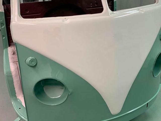 VW restoration - a classic VW campervan.